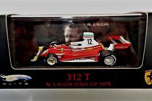 【送料無料】模型車 モデルカー スポーツカー ニキラウダホットホイールエリートフェラーリイタリアniki lauda hot wheels elite 143 1975 ferrari 312t, italy *very rare *