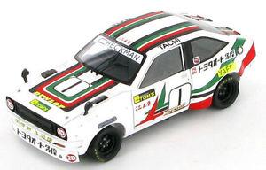 【送料無料】模型車 モデルカー スポーツカー トヨタスターレットtoyota starlet nobuhide tachi jtcc 1977 143