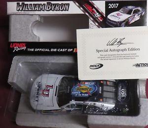 【送料無料】模型車 モデルカー スポーツカー #ウィリアムバイロンサイン, 124 galaxy finish, 9, rookie of the year, autographed by william byron
