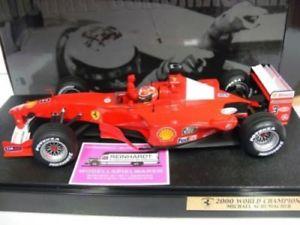 【送料無料】模型車 モデルカー スポーツカー ホットホイールフェラーリミハエルシューマッハートイレ118 hot wheels ferrari michael schumacher wc 2000 sonderpreis 42,99