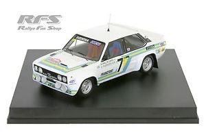 【送料無料】模型車 モデルカー スポーツカー フィアットアバルトガールモンテカルロラリーfiat 131 abarth waldegard rallye monte carlo 1980 143 trofeu 1414
