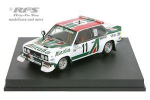【送料無料】模型車 モデルカー スポーツカー フィアットアバルトアリタリアサファリラリーfiat 131 abarth alitalia safari rallye 1979 walter rhrl 143 trofeu 1426