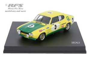 【送料無料】模型車 モデルカー スポーツカー フォードカプリスパford capri 2600 rs 24 hours spa 1972 birrell bourgoignie 143 trofeu 2307