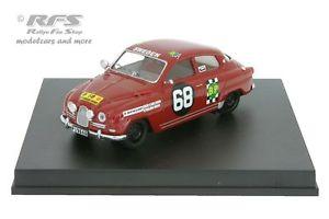 【送料無料】模型車 モデルカー スポーツカー カールソンサファリラリーモスsaab 96 safari rallye 1965 carlsson moss 143 trofeu 1508