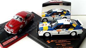 【送料無料】模型車 モデルカー スポーツカー モデルラリーアウディクワトロサーブ2 stig blomqvist 143 models wrc rallye vitesse audi quattro amp; saab 96 v4