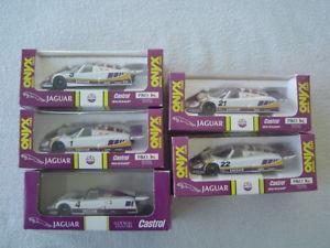 【送料無料】模型車 モデルカー スポーツカー オニキスジャガールマンレースカーボックススケールfive 5 onyx jaguar xjr9 xjr11 le mans race cars 143 scale in box