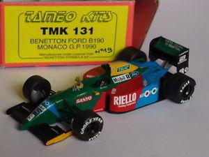 【送料無料】模型車 モデルカー スポーツカー キットモンテベネトンフォードモナコkit monte tameo benetton ford b190 gp monaco 1990 143