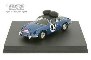 【送料無料】模型車 モデルカー スポーツカー ルノーアルパインモンテカルロラリーalpine renault a110 rallye monte carlo 1968 larrousse 143 trofeu 0824