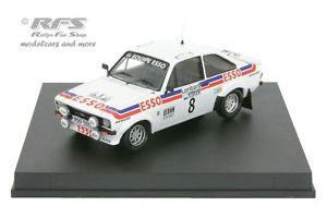 【送料無料】模型車 モデルカー スポーツカー フォードエスコートラリーロジャークラークford escort rs 1800 mk ii rac rallye 1979 roger clark 143 trofeu 1025
