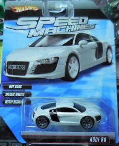 【送料無料】模型車 モデルカー スポーツカー ホットホイールスピードマシンアウディホワイトブラック