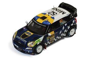 【送料無料】模型車 モデルカー スポーツカー ミニジョンクーパーラリースウェーデンデル143 mini jcw john cooper works wrc rally sweden 2012 psandell