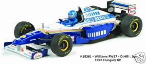 【送料無料】模型車 モデルカー スポーツカー ウィリアムズ#ハンガリーグランプリwilliams fw17 5 dhill winner hungary gp 1995 quartzo 118 18361