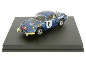 【送料無料】模型車 モデルカー スポーツカー ルノーアルパインモンテカルロラリー143 renault alpine a110 andruet rallye monte carlo 1972 trofeu 0807y