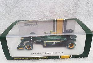【送料無料】模型車 モデルカー スポーツカー スパークモナコグランプリヘイッキコヴァライネンスケールspark s3007 lotus t127 19 monaco gp 2010 heikki kovalainen 143 scale