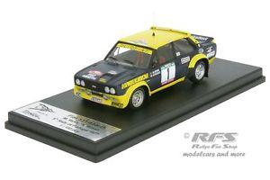 【送料無料】模型車 モデルカー スポーツカー フィアットアバルトポルトガルラリーfiat 131 abarth rallye portugal 1977 verini russo 143 trofeu rral 044