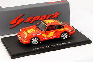 【送料無料】模型車 モデルカー スポーツカー ワールドツアーポルシェカレラporsche 964 carrera 4 world tour 1994 143 spark
