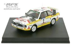 【送料無料】模型車 モデルカー スポーツカー アウディスポーツクワトロツールドコルスラリーaudi sport quattro walter rhrl rallye tour de corse 1984 143 trofeu 2801
