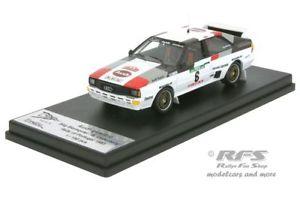 【送料無料】模型車 モデルカー スポーツカー アウディクワトロラリーポルトガルaudi quattro rallye portugal 1983 blomqvist cederberg 143 trofeu rral 053
