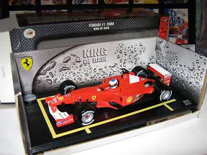 【送料無料】模型車 モデルカー スポーツカー フェラーリミハエルシューマッハキング118 ferrari f2000 m schumacher 2000 king of rain le mattel 50909 ovp