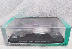【送料無料】模型車 モデルカー スポーツカー ニコロズベルグメルセデススパークモナコspark 143 f1 nico rosberg mercedes f1 wo4 9 winner monaco gp 2013 s3067