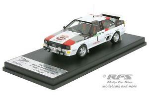 【送料無料】模型車 モデルカー スポーツカー アウディクワトロムートンポンスポルトガルラリーaudi quattro a1 mouton pons rallye portugal 1983 143 trofeu rral 045
