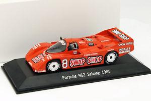 【送料無料】模型車 モデルカー スポーツカー ポルシェ#セブリングフォイトporsche 962 8 winner 12h sebring 1985 wollek, foyt 143 spark