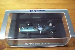 【送料無料】模型車 モデルカー スポーツカー スパークグラハムヒルアメリカグランプリ143 spark s1152 brm p57 graham hill winner usa gp 1963