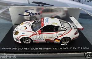 【送料無料】模型車 モデルカー スポーツカー ポルシェ#モータスポーツルマンporsche 996 gt3 rsr 83, seikel motorsport, le mans 2006, 143, neuwertig