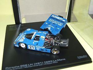 【送料無料】模型車 モデルカー スポーツカー ポルシェルマンレーシングporsche 956 lh n21 le mans 1983 hpi racing 143 arrive 3me