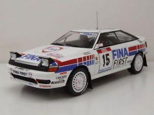 【送料無料】模型車 モデルカー スポーツカー トヨタセリカ#ツールドコルスラリーモデルカートリプルtoyota celica 15 fina rallye tour de corse 1991 modellauto 118 triple9