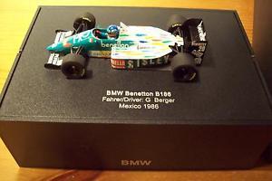 【送料無料】模型車 モデルカー スポーツカー ベネトンゲルハルトベルガーボックスメキシコグランプリ143 benetton 1986 bmw b186 gerhard berger bmw box mexico gp