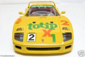 【送料無料】模型車 モデルカー スポーツカー フェラーリレーシングバージョンbburago 3022 ferrari f40 gelb rennversion 118 neuw ovp