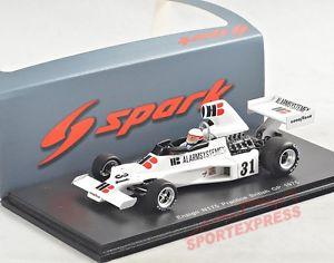 【送料無料】模型車 モデルカー スポーツカー スパークイギリススケートリンク# 143 spark s4812 ensign n175, practice british gp 1975, wunderink 20
