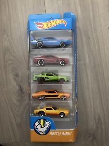 【送料無料】模型車 モデルカー スポーツカー ホットホイールマニアhot wheels muscle mania set of 5