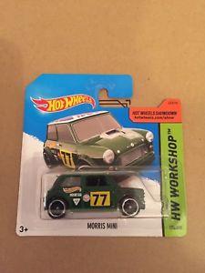 【送料無料】模型車 モデルカー スポーツカー ホットホイールモーリスミニグリーンhot wheels morris mini green