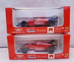 【送料無料】模型車 モデルカー スポーツカー オニキスダラーラフォーミュラアレックス×モデルonyx 036; 1989 dallara f189 formula 1; alex caffi; excellent boxed x 2 models