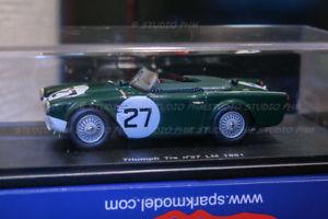 【送料無料】模型車 モデルカー スポーツカー ルマンスパークtriumph tr4s n27 standard triumph, gb 9 24h du mans 1961 spark 143 very rar