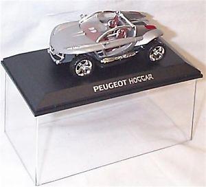 【送料無料】模型車 モデルカー スポーツカー プジョーシルバーケースpeugeot hoggar in silver in case