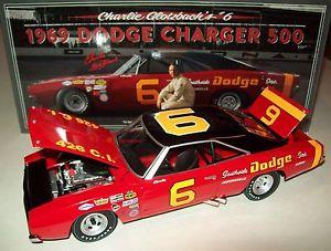 【送料無料】模型車 モデルカー スポーツカー チャーリーバッハダッジチャージャー#charlie glotzbach 1969 dodge charger 500 6 southside nascar legends 124 hemi