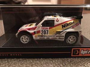 【送料無料】模型車 モデルカー スポーツカー #パジェロニコンダカールラリーlast one hpi 8880 mitsubishi pajero nikon 1993 paris dakar rally 143 resin