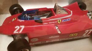 【送料無料】模型車 モデルカー スポーツカー フェラーリ#フィアットグランプリビルヌーブburago, ferrari 312t5, fiat, grand prix, 27, 1980, g villeneuve, 114