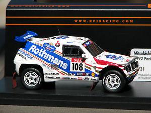 【送料無料】模型車 モデルカー スポーツカー ロスマンズロゴパジェロ##rothmans logos applied mitsubishi pajero 108 hpi 8931 resin 143