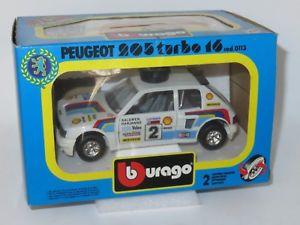 【送料無料】模型車 モデルカー スポーツカー オリジナルプジョープジョーボックス124 original 1980s burago 0113 peugeot 205t16 peugeot promotional box