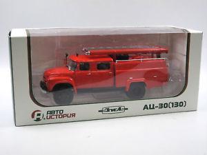 【送料無料】模型車 モデルカー スポーツカー ヒストリアソauto historia aist ac30 zil130 fire engine ussr feuerwehr tlf 143