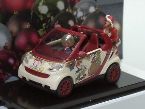 【送料無料】模型車 モデルカー スポーツカー ブッシュスマートカブリオクリスマスbusch smart cabrio weihnachten 2014 99087 187