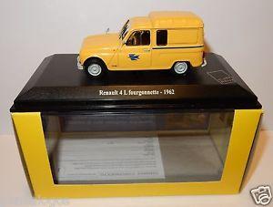 【送料無料】模型車 モデルカー スポーツカー ルノーボックスnorev renault 4 l 4l fourgonnette 1962 postes poste ptt 143 in luxe box