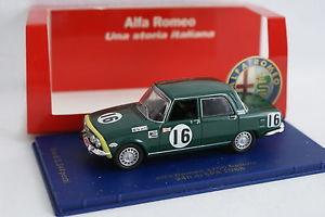 【送料無料】模型車 モデルカー スポーツカー アルファロメオスパm4 143 alfa romeo 1750 24h spa 1968