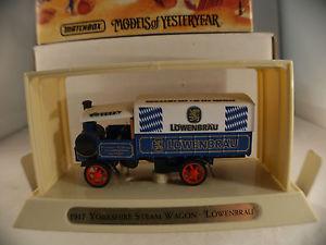【送料無料】模型車 モデルカー スポーツカー マッチヨークシャースチームワゴンmatchbox ygb12 1917 yorkshire steam wagon lwenbru en boite mib