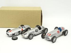 【送料無料】模型車 モデルカー スポーツカー del prado sb 143 lot de 3 mercedes f1 w196 w125 w154