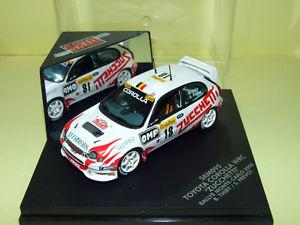【送料無料】模型車 モデルカー スポーツカー スキッドトヨタカローラ#モンテカルロラリーskid 143 toyota corolla wrc 18 montecarlo rally 2000 thiry prevot